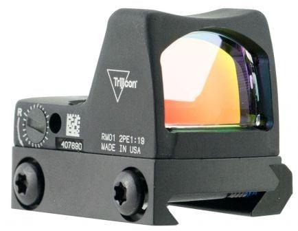 Trijicon RMR Type 2 1x Reflex Red Dot Sight, Illuminated 3.25 MOA Dot, Matte Black - 700601
