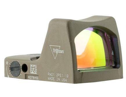 Trijicon RMR Type 2 1x Reflex Red Dot Sight, Illuminated 3.25 MOA Dot - 700624