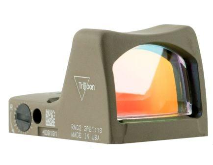 Trijicon RMR Type 2 1x Reflex Red Dot Sight, Flat Dark Earth Cerakote - 700645