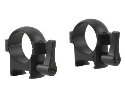 """Burris 1"""" Low Steel 2-Piece Quick Detach Zee Ring, Matte Black - 420031"""