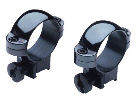 """Burris Rimfire Deluxe .22 Cal 1"""" Medium Steel 2-Piece Scope Ring, Gloss Black - 420072"""