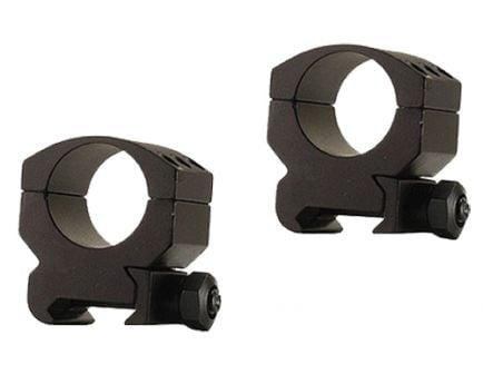 """Burris Xtreme Tactical 1"""" Medium Aluminum 2-Piece Scope Ring, Matte Black - 420181"""