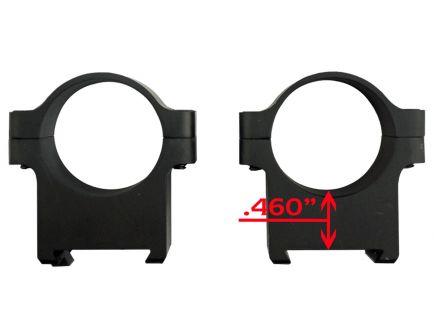 """CZ-USA CZ 550/557 1"""" Low Aluminum 2-Piece Scope Ring, Matte Black - 40010"""