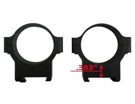 CZ-USA CZ 550/557 30mm Low Aluminum 2-Piece Scope Ring, Matte Black - 40011