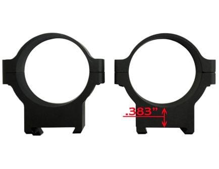 CZ-USA CZ 550/557 34mm Low Aluminum 2-Piece Scope Ring, Matte Black - 40012