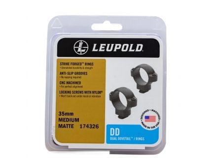Leupold 35mm Medium Steel 2-Piece Dual Dovetail Scope Ring, Matte Black - 174326