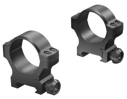 "Leupold BackCountry 1"" High 7075 T6 Aluminum 2-Piece Cross-Slot Ring, Matte Black - 175118"