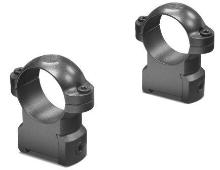 "Leupold CZ 550 1"" High Steel 2-Piece Scope Ring, Matte Black - 177360"