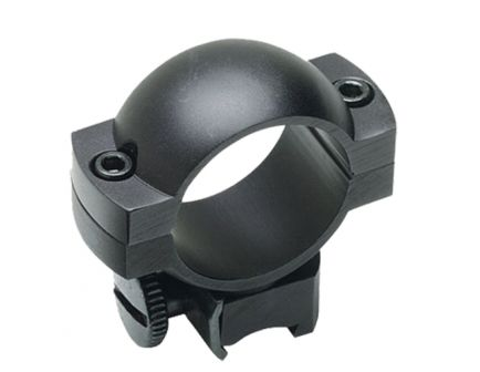 "Redfield 1"" High Aluminum 2-Piece Scope Ring, Matte Black - 47316"