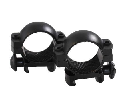 "Traditions Crackshot 1"" Medium Aluminum Top/Bottom Style Scope Ring, Matte Black - A791DS"