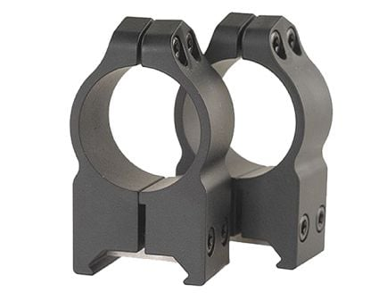 "Warne Scope Mounts Maxima 1"" High Steel Fixed Scope Ring, Matte Black - 202M"