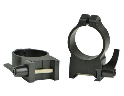 Warne Scope Mounts Maxima 30mm High Steel Quick Detach Scope Ring, Matte Black - 215LM