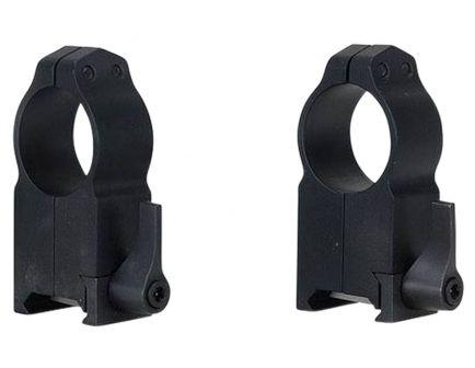 "Warne Scope Mounts Maxima 1"" Ultra High Steel Quick Detach Scope Ring, Matte Black - 204LM"