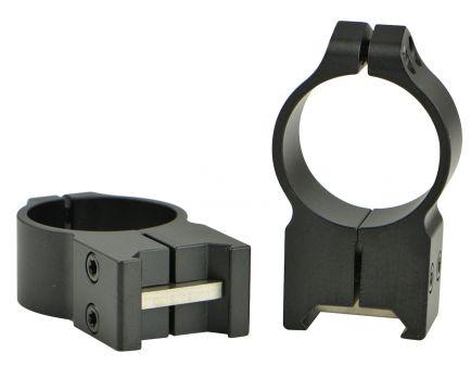 Warne Scope Mounts Maxima 30mm Extra High Steel Fixed Scope Ring, Matte Black - 216M