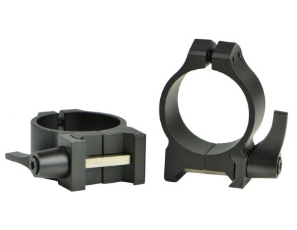 Warne Scope Mounts Maxima 30mm Low Steel Quick Detach Scope Ring, Matte Black - 213LM