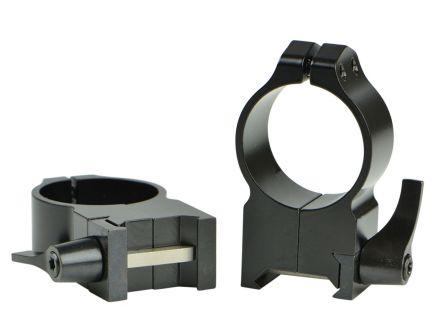 Warne Scope Mounts Maxima 30mm Extra High Steel Quick Detach Scope Ring, Matte Black - 216LM