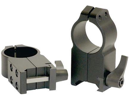 Warne Scope Mounts Maxima 30mm Ultra High Steel Quick Detach Scope Ring, Matte Black - 217LM