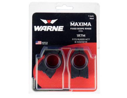 """Warne Scope Mounts Maxima Tikka T3 1"""" High Steel 2-Piece Fixed Scope Ring, Matte Black - 2TM"""