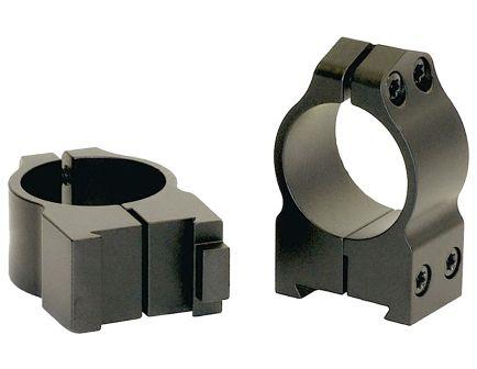"Warne Scope Mounts Maxima CZ 550 1"" Medium Steel 2-Piece Fixed Scope Ring, Matte Black - 1BM"