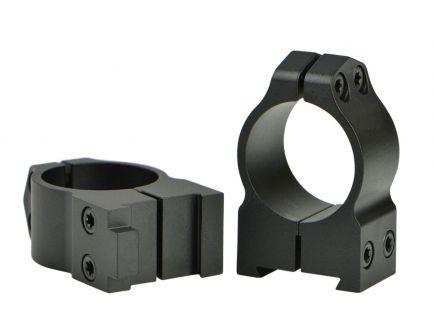 "Warne Scope Mounts Maxima CZ 527 1"" Medium Aluminum 2-Piece Fixed Scope Ring, Matte Black - 1B1M"
