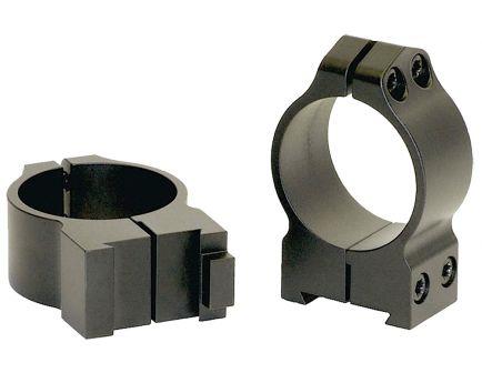 Warne Scope Mounts Maxima CZ 550 30mm High Steel 2-Piece Fixed Scope Ring, Matte Black - 15BM