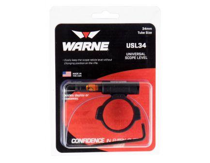 Warne Scope Mounts 34mm 6061 Aluminum 1-Piece Universal Scope Level, Black - USL34