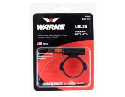 Warne Scope Mounts 35mm 6061 Aluminum 1-Piece Universal Scope Level, Black - USL35