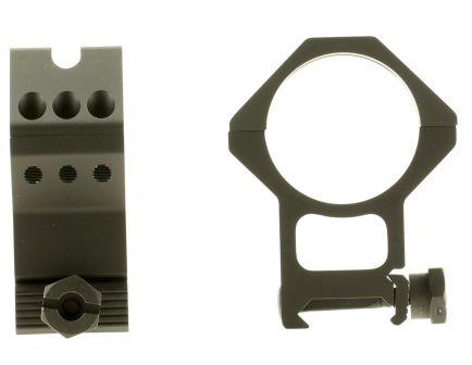 Weaver Tactical Precision 34mm XX-High 7075 T6 Aluminum 2-Piece 6-Hole Quick Detach Picatinny Ring, Anodized Black - 99686