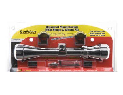 Traditions 3-9x40mm Duplex Non Illuminated Muzzleloader Rifle Scope Kit - A1171