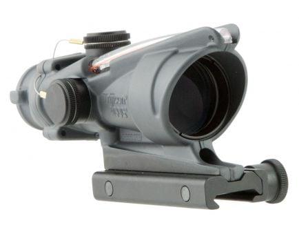 Trijicon ACOG 4x32mm Dual Illuminated Red 5.56/.223 BDC Chevron Rifle Scope, Sniper Gray - 100308