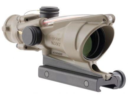 Trijicon ACOG 4x32mm Dual Illuminated Red 5.56/.223 BDC Chevron Rifle Scope, Flat Dark Earth - 100310