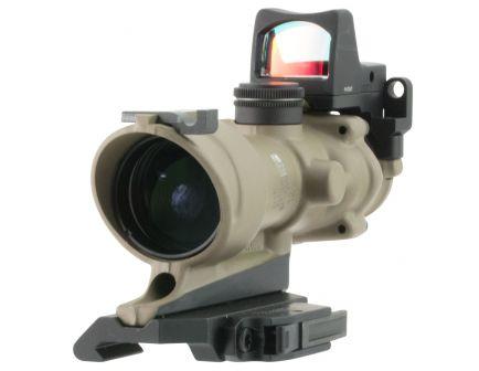 Trijicon ACOG 4x32mm Illuminated Amber .223 BDC Crosshair Rifle Scope w/ RMR - 100555