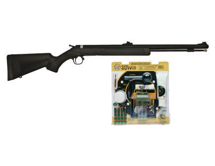 CVA Wolf Outfit 50 Caliber Muzzle Loading Black Powder Rifle, Black/Blue - PR2110VP