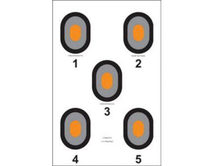 "Action Target Law Enforcement 23"" x 35"" Bullseye Target, Black/Gray, Bright Orange Center, 100/box - 530-OC-100"
