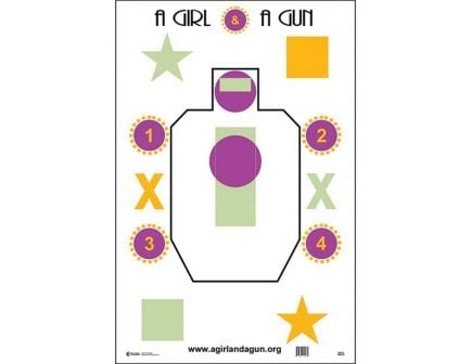 """Action Target Law Enforcement 23"""" x 35"""" Silhouette Girl and a Gun Training Target, 100/box - AGG-100"""