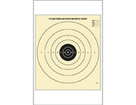 """Action Target Law Enforcement 21"""" x 24"""" B-8 Bullseye Timed and Rapid Fire Target, Yellow/Black, 100/box - B-8-100"""