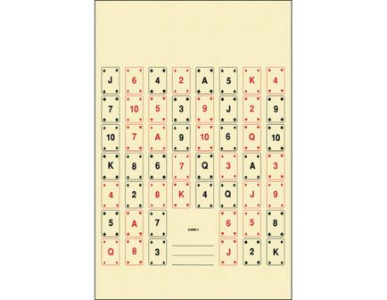 """Action Target Law Enforcement 22.5"""" x 24"""" Set of 52 #1 Playing Card Target, Black/Red, 100/box - CARD-1-100"""
