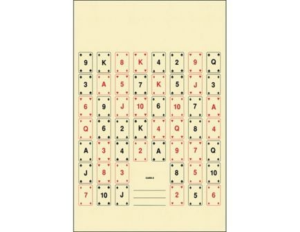"""Action Target Law Enforcement 22.5"""" x 24"""" Set of 52 #2 Playing Card Target, Black/Red, 100/box - CARD-2-100"""