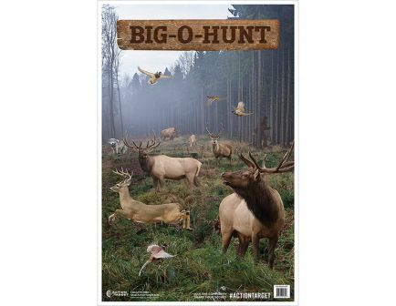 """Action Target 23"""" x 35"""" Big-O-Hunt Target, Multi-Color, 100/box - GS-BIGHUNT-100"""