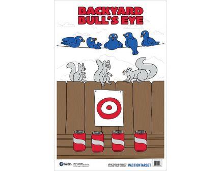 "Action Target 23"" x 35"" Back Yard Bullseye Target, Multi-Color, 100/box - GS-BKYARD-100"