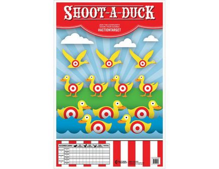 """Action Target 23"""" x 35"""" Shoot-A-Duck Target, Multi-Color, 100/box - GS-CARDUCK-100"""