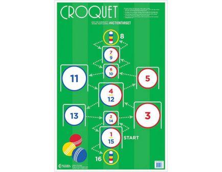 """Action Target 23"""" x 35"""" Croquet Target, Multi-Color, 100/box - GS-CROQUET-100EM#"""