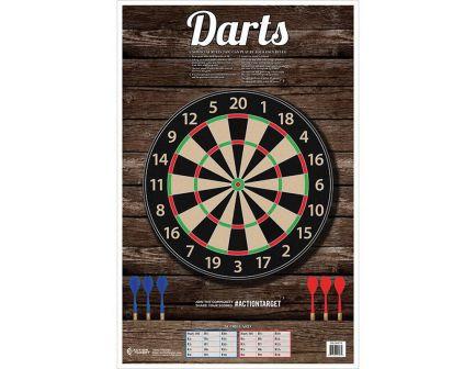 """Action Target 23"""" x 35"""" Darts Target, 100/box - GS-DARTS-100"""