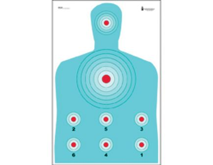 "Action Target Law Enforcement 23"" x 35"" Silhouette B-27 High Visibility Fluorescent Modified Target, 100/box - PR-CQ1-100"