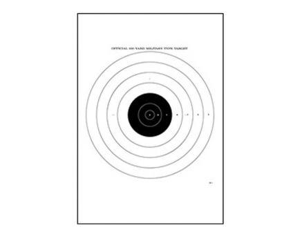 "Action Target Law Enforcement 21"" x 21"" Military Bullseye Shooting Target, Black, 100/box - SR-1-100"