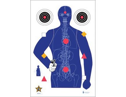 "Action Target Law Enforcement 23"" x 35"" Silhouette B-21E Sheriff's Office Modified Target w/ Vital Anatomy, 100/box - SSO99100"