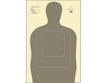 "Action Target Law Enforcement 24"" x 45"" Silhouette Standard TQ-15 Target, Gray, 100/box - TQ-15-GRAY-100"