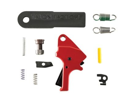 Apex Tactical Drop-in Flat-Faced Forward Set Trigger Kit for Smith & Wesson M&P M2.0 9mm/40 S&W/45 ACP Pistols, Red - 100153