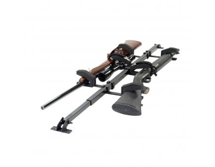 Big Sky Racks Sky Bar Black Steel Overhead 2-Gun Rack for Rifle Buttstock - SBR-2G