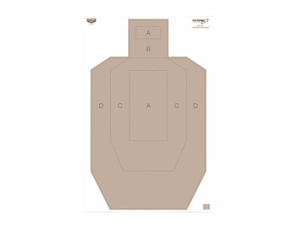 "Birchwood Casey EZE-Scorer Hanging Paper 23"" x 35"" IPSC Brown/White 100 - BC-37029"